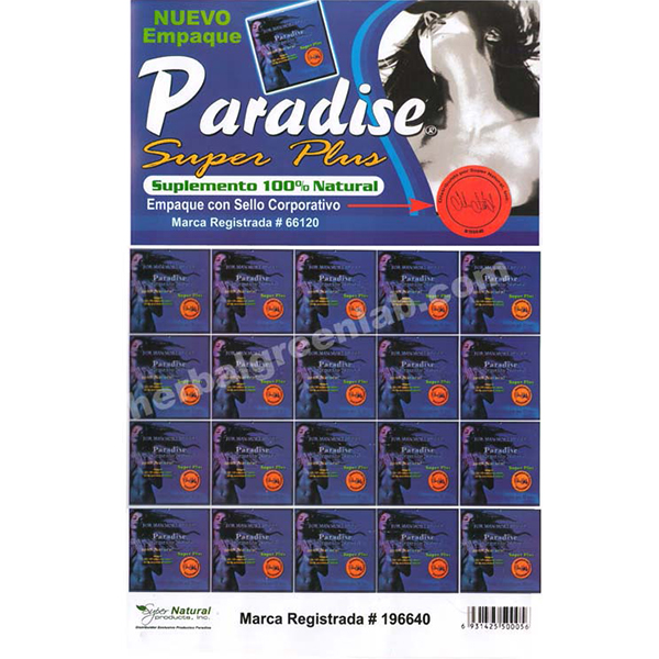 OEM Paradies Ultra Herbal Supplement Sex Pills